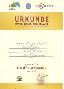 Bundes Jugend Sieger 2010